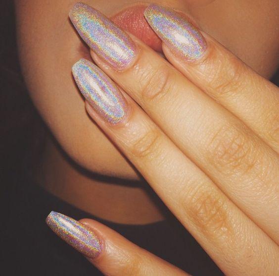 Lilshawtybad Nails Pinterest Instagram, Purpurina y Esmalte - uas efecto espejo