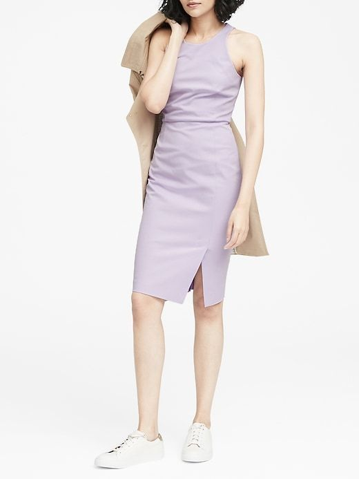 Petite Bi Stretch Racer Neck Sheath Dress Banana Republic Clothes For Women Women Clothes Sale Dresses