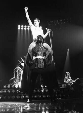 This is just too damn awesome! #rock #roll #freddie #mercury #Queen #star #wars #darth #vader