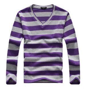 Casual Sweater Men Pullovers Brand winter Knitting long sleeve v-Neck slim Knitwear Sweaters