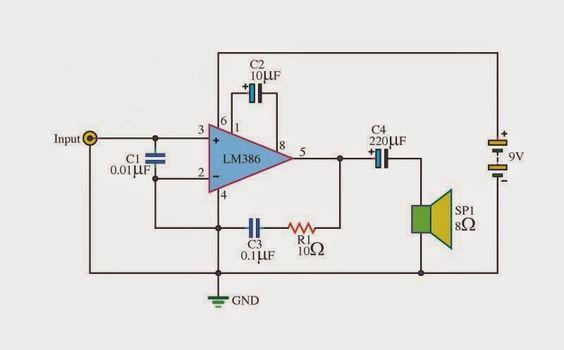 #LM386AudioAmplifierCircuit | #ElectronicsCircuit| #ElectricalCircuit | #EngineeringCircuit.