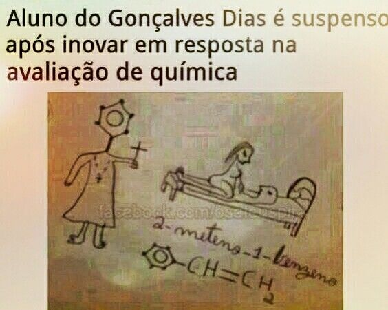 Eu só entendo química dessa forma 😂 😂 😂
