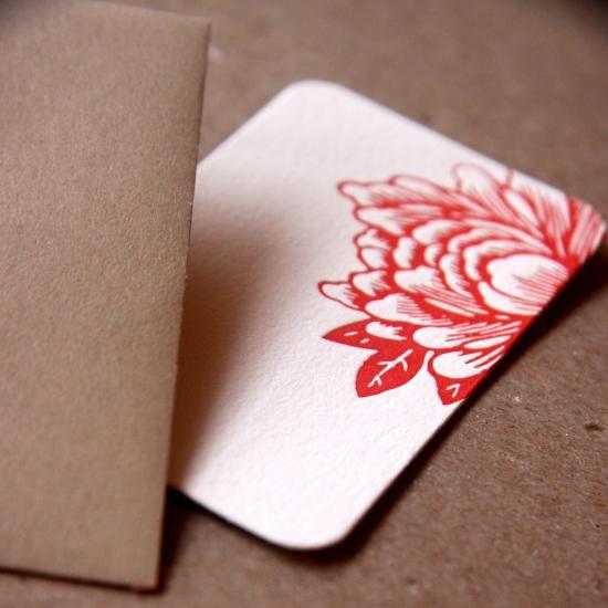 tiny letterpress cards