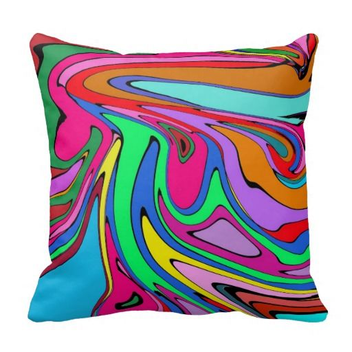 Retro Abstract Throw Pillow
