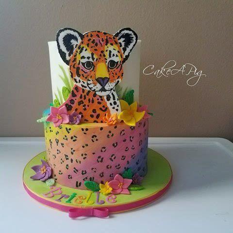 Lisa Frank Cheetah With Images Cheetah Birthday Cakes Cheetah