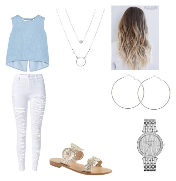 """""""Nice summer outfit"""" by katelinbullock on Polyvore featuring Steve J & Yoni P, WithChic, Jack Rogers and Michael Kors"""