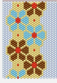 Brick Stitch flowers: