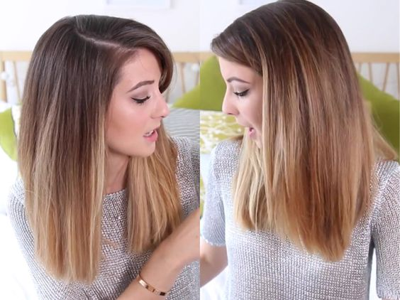 balayage with subtle ombre on zoellas hair.