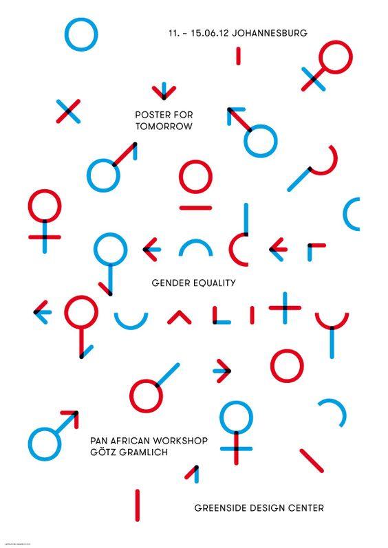 Gender Equality Poster. GGGrafik (Typography, Design ... Gender Equality Posters