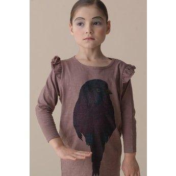 Lila vogel jurk