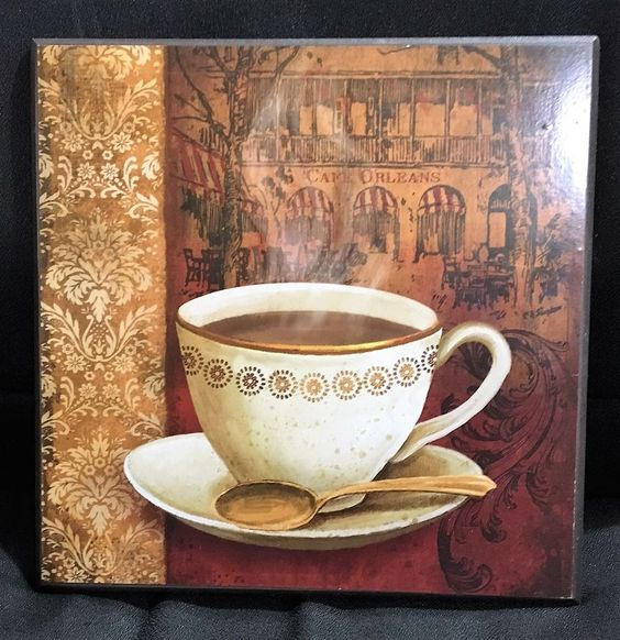 Cappuccino Cafe Orleans Coffee Latte Cup Art Print Sign Wall Home Decor