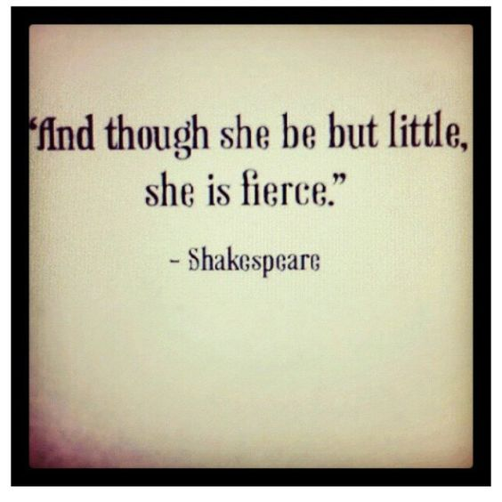 Shakespeare must have known some interesting women...