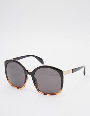 ASOS Retro Sandwich Sunglasses In Mixed Frame