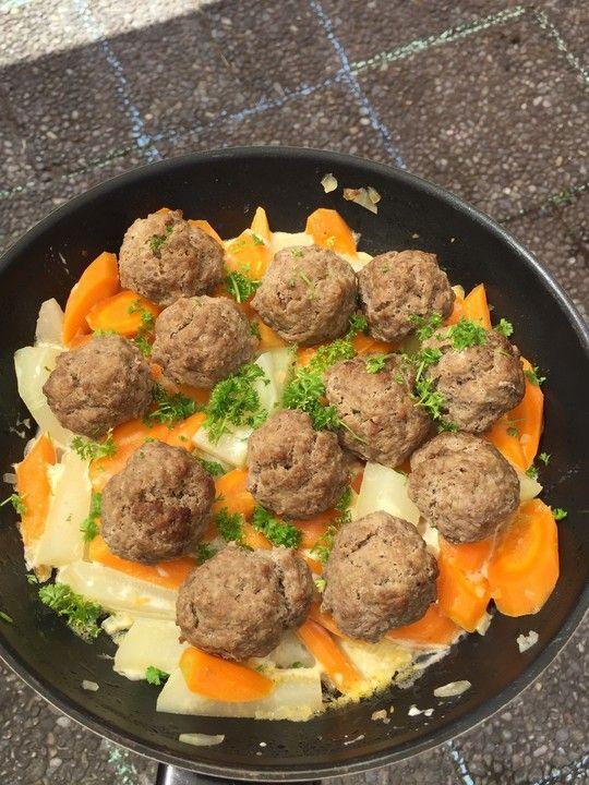 Rinderhackballchen Ohne Brot Und Ei Von Muwef1 Chefkoch Einfache Gerichte Hackbraten Mit Ei Gerichte Mit Ei