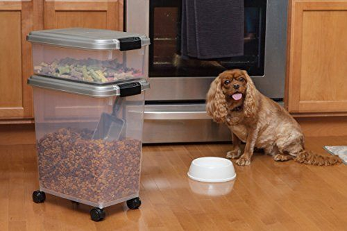 3 Piece Airtight Pet Food Storage Container Combo Dog Food