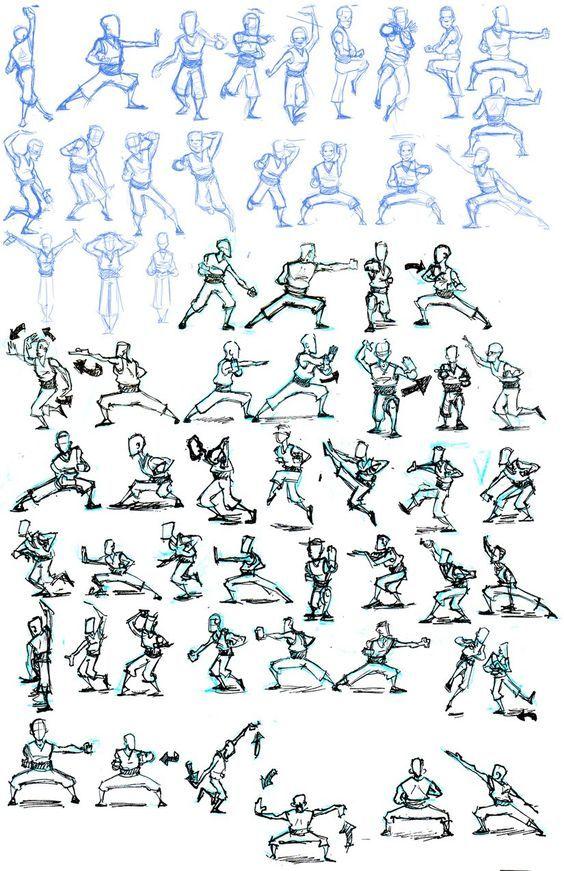 artistic kung fu poses: