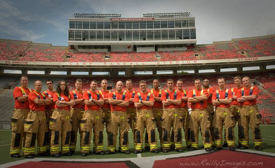 Madison Fire Department Recruit Class at Camp Randall Stadium, in Madison Wisconsin