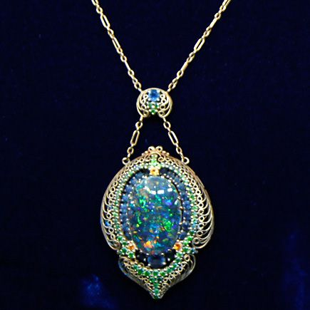 A Multi Gem Pendant Necklace By Louis Comfort Tiffany Tiffany Co Tiffany Jewelry