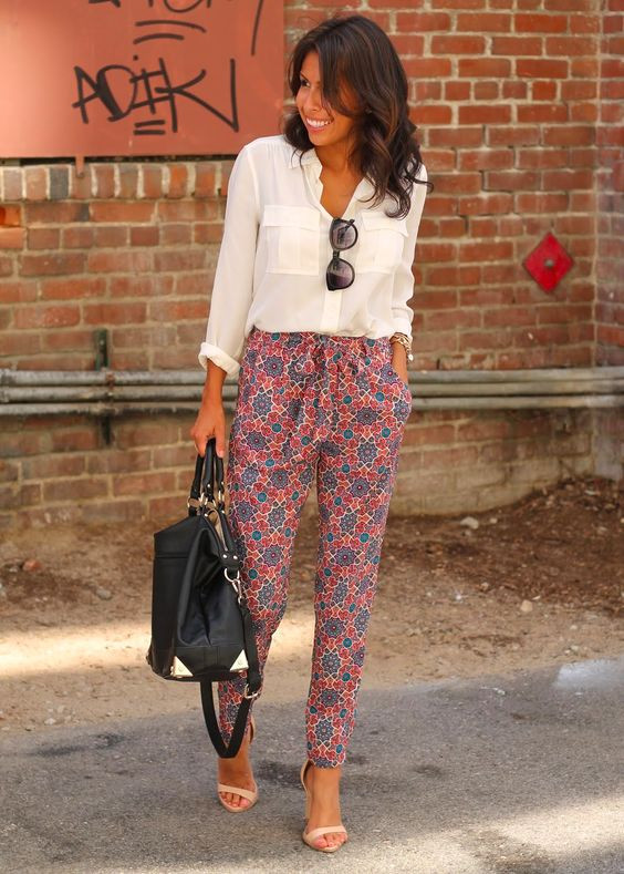 Printed trousers are a perfect way to add some variety to your work wardrobe: