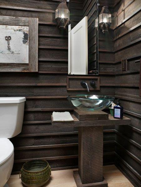 Salvaged wood bathroom