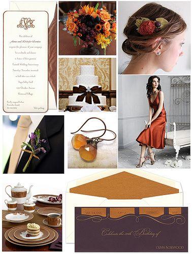 Autumn Wedding: Copper & Plum #purple #orange
