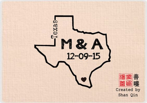 Custom personalized wedding stamp - Mounted Rubber Stamp Outline Shape ALL 50 States Available - W30 by Shanqin on Etsy https://www.etsy.com/listing/178795613/custom-personalized-wedding-stamp