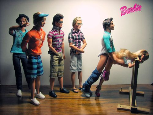 ow.. i've always just been under the impression that barbie dolls were toys made for children. but