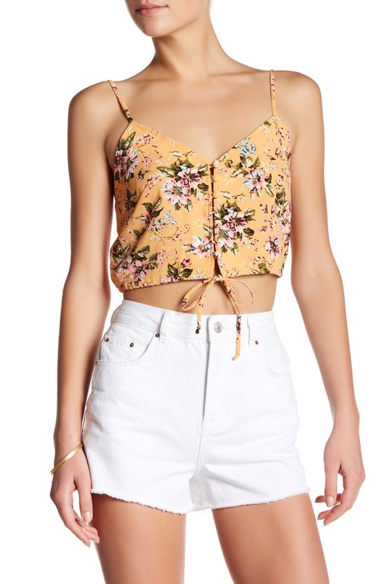 Obsessing over this floral print Flynn Skye Cami Crop Blouse