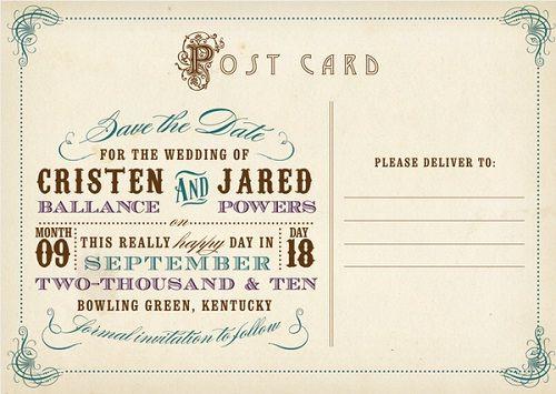 wedding postcard template