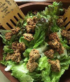 Croutons et craquelins nutritifs sans gluten aux fines herbes du balcon