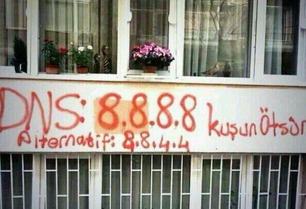 Turquia bloqueia o acesso aos servidores DNS da Google