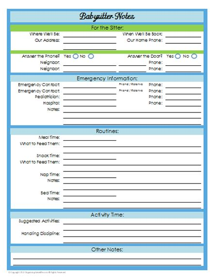31 Days Of Home Management Binder Printables Day 21