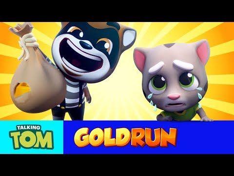 Talking Tom Gold Run Mega Trailer Cartoon Compilation Youtube In 2020 Talking Tom Subway Surfers Game Games For Kids