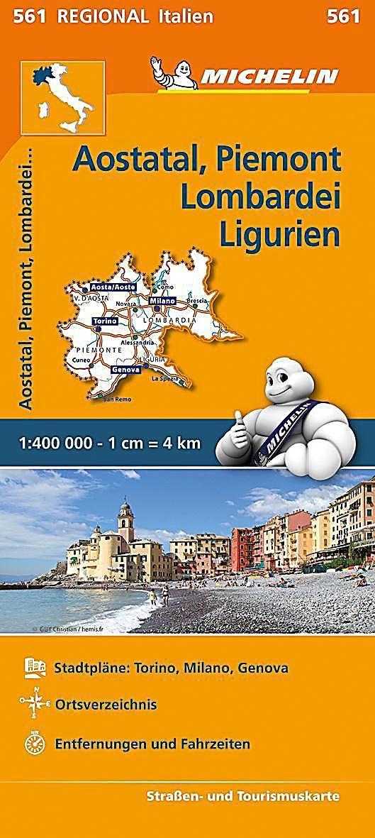 Michelin Karte Aostatal Piemont Lombardei Und Ligurien Karte