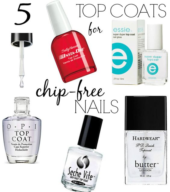 These are a few of the best top coats to keep your nails in check!