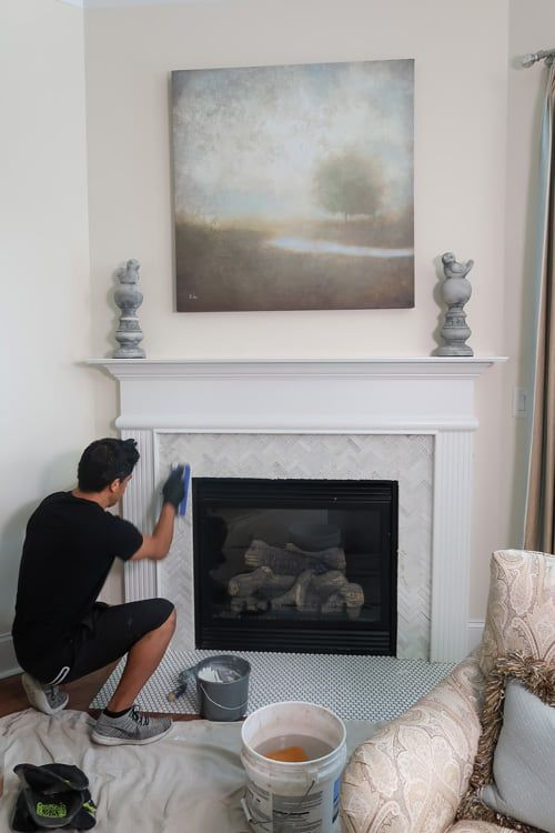 Fireplace Tile Surround, Can You Tile Over A Marble Fireplace Surround