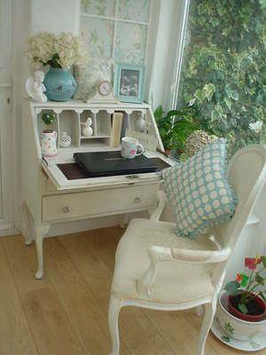 Shabby Chic Bureau in Old White ~ Stunning.