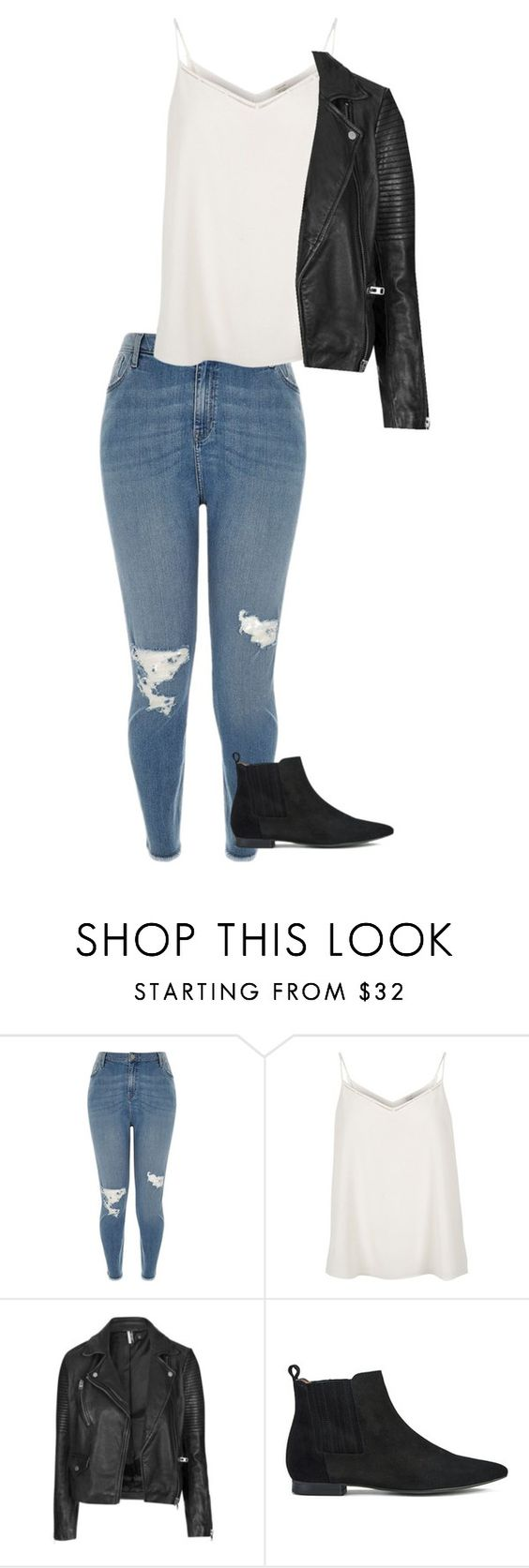"""Untitled #150"" by whatacatchaly ❤ liked on Polyvore featuring River Island, Topshop and H by Hudson"