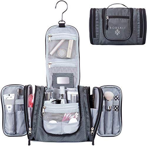 Best Seller Hanging Toiletry Bag Women Borsali Makeup Toiletries Organizer Medium Bag Compact Yet Roomy Travel Confidently Mini Mirror Easy Access Compar In 2020 With Images Hanging Toiletry Bag
