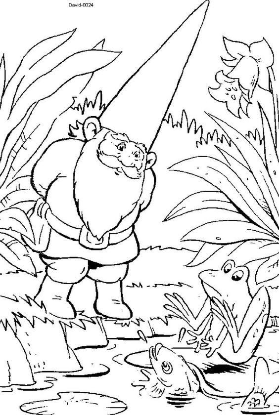 david the gnome coloring page