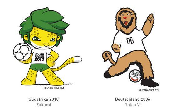 WM-Maskottchen FIFA Weltmeisterschaft 2010 2006
