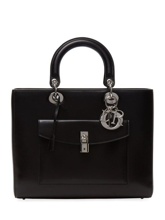 Large Leather Convertible Tote from Dior