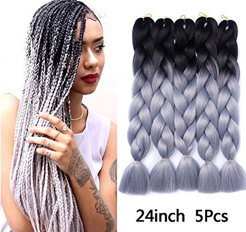 Besteffie Kanekalon Hair Extensions 24inch 5pcs Lot Synthetic Fiber For Twist Jumbo Braiding Hair Omb Jumbo Braiding Hair Braided Hairstyles Hair Braid Designs