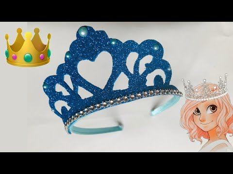 تاج طوق من الفوم للاطفال الاميرات Crown Foam Youtube Crochet Diagram Crown Crochet