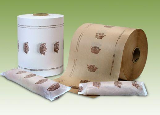 Bobinas de papel sin ventana para el envase en máquina flowpack