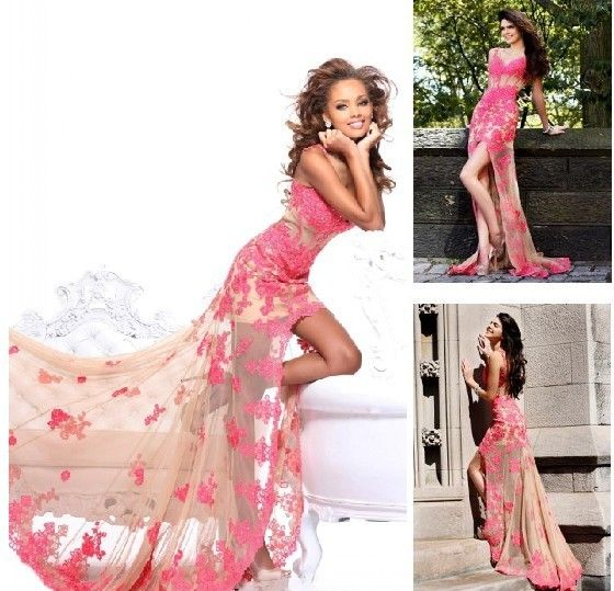 free shipping 2013 New sale sue wong Mermaid Applique Formal silhouette gown Ball Pageant custom size/color sexy lace prom dress-in Prom Dre...