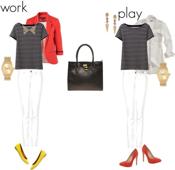 A Summer Wardrobe That Rocks for Work & Play: Nautical and Nice