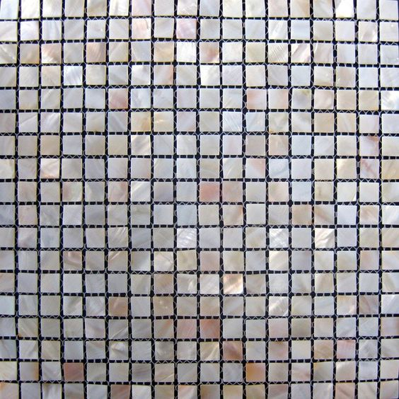 Køkken Fliser Mosaik  Luksus shell mosaikk fliser perle mosaikker