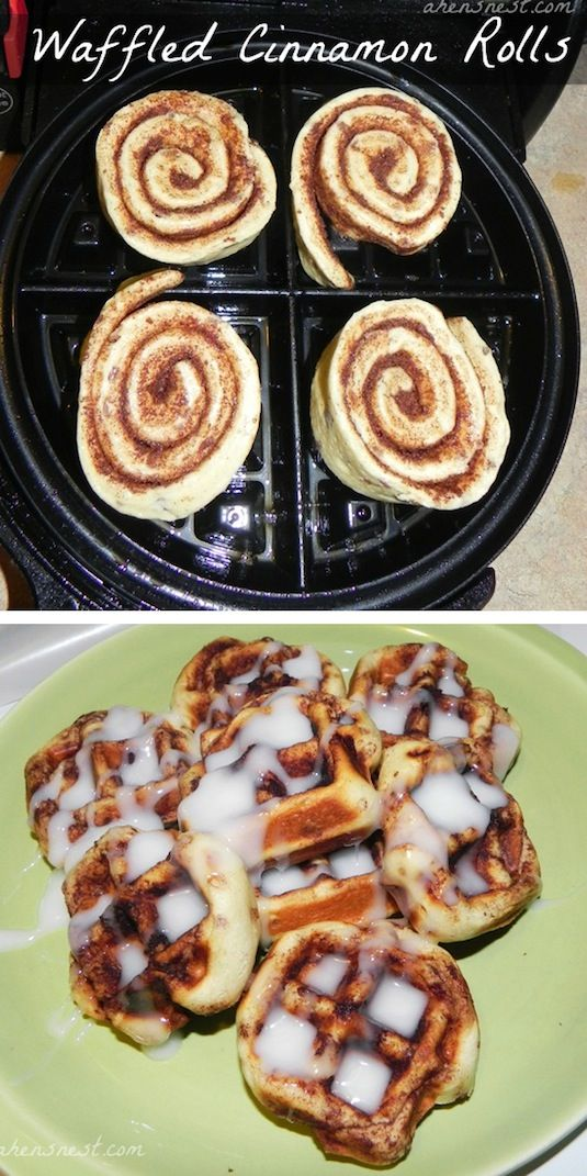 23 Things You Can Cook In A Waffle Iron | Waffle Iron Cinnamon Rolls. I don't have a waffle iron, so I think I'll try some of these in my George Forman lol