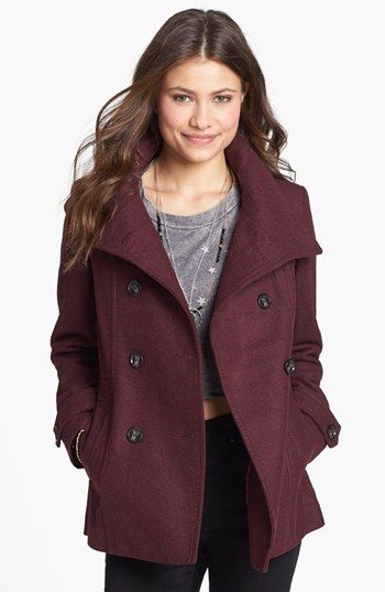Thread &amp Supply Double Breasted Peacoat (Juniors) (Online Only